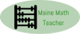 Maine Math Teacher Logo